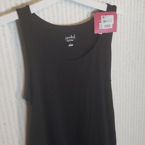 Isabel Maternity Tank Dress with Ruching Large